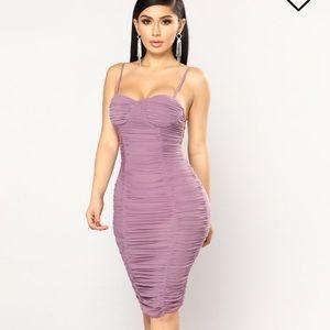 Lavender Fashion Nova Dress